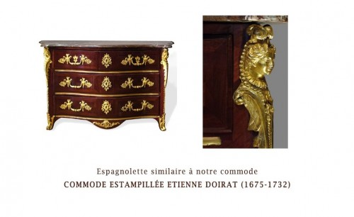 """French Chest Chest Of Drawers, Regence, Rosewood Veneer, Early 18th Centur - Furniture Style French Regence"