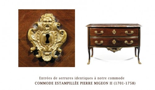 "Furniture  - ""French Chest Chest Of Drawers, Regence, Rosewood Veneer, Early 18th Centur"