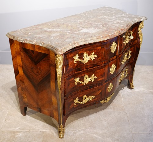 "French Regence - ""French Chest Chest Of Drawers, Regence, Rosewood Veneer, Early 18th Centur"