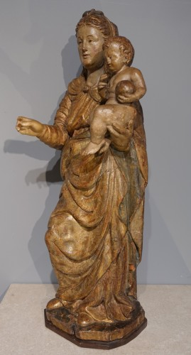 Italian Virgin And Child, Late 16th Century - Sculpture Style Renaissance