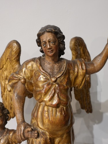 "Sculpture  - Group ""Tobias and the Archangel Raphael, late 17th century"