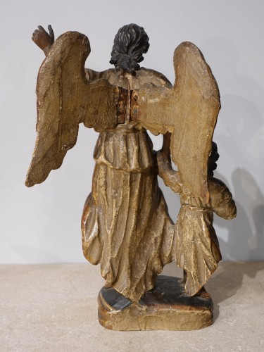 "French Regence - Group ""Tobias and the Archangel Raphael, late 17th century"