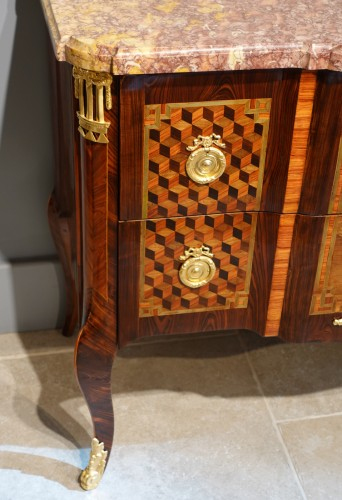 "French 18th Century Chest Of Drawers ""musical Instruments"" -"