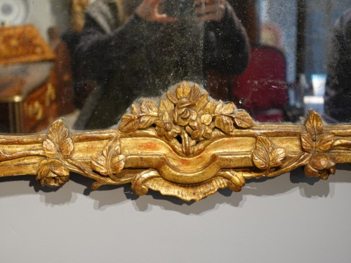 Louis XV mirror in gilded wood - Louis XV