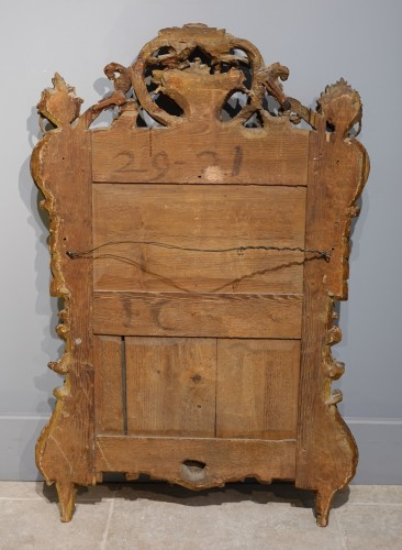 Louis XV - Louis XV mirror in gilded wood
