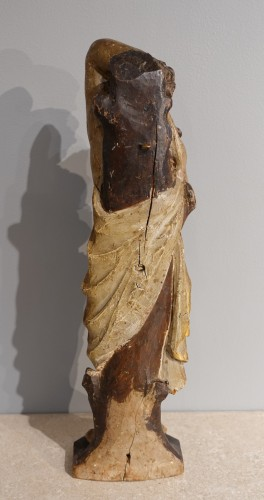 Saint Sebastian In Carved Wood 17th Century - Sculpture Style Louis XIV