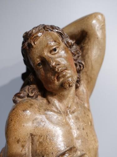 Saint Sebastian In Carved Wood 17th Century - Louis XIV