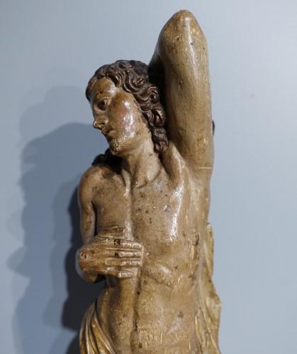 Louis XIV - Saint Sebastian In Carved Wood 17th Century