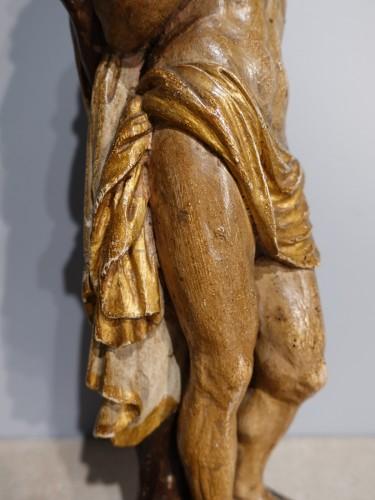 Antiquités - Saint Sebastian In Carved Wood 17th Century