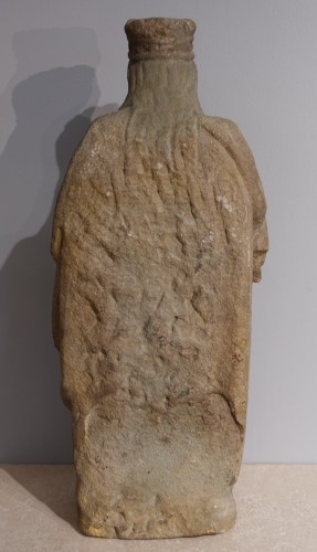 <= 16th century - French Sainte Catherine, Carved Stone, Late 15th - Early 16th Century