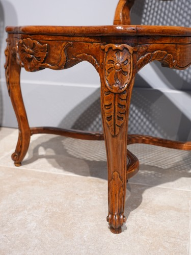 """Pair Of Louis XV Caned Chairs, Stamped """"gourdin"""" - Louis XV"""