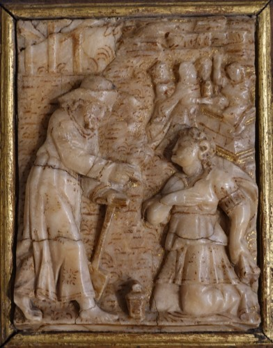 """Alabaster plaque by Nicolaas Daems, """"Noli me tangere"""", early 17th century -"""