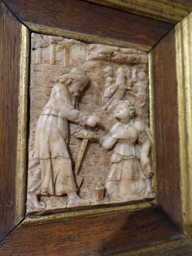 """17th century - Alabaster plaque by Nicolaas Daems, """"Noli me tangere"""", early 17th century"""