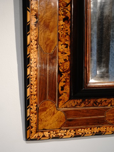 Mirrors, Trumeau  - Marquetry mirror attributed to Thomas Hache circa 1695