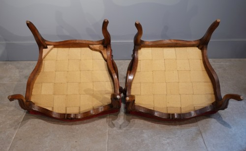 Antiquités - Pair of Louis XV armchairs attributed to Nogaret