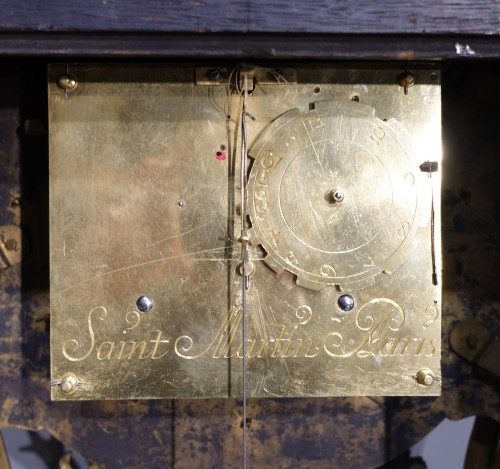 "18th century - Louis XV Cartel In Boulle Marquetry, Signed ""saint Martin à Paris"""