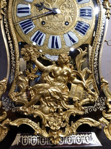 """Antiquités - Louis XV Cartel In Boulle Marquetry, Signed """"saint Martin à Paris"""""""