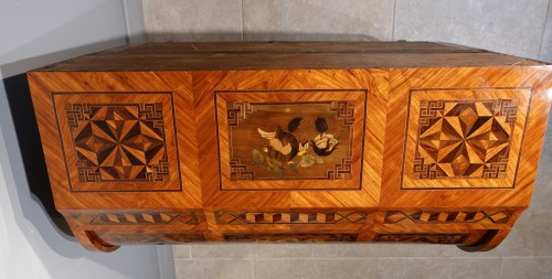 """French Louis XV Desk Called """"cylindre"""", Marquetry, 18th Century -"""