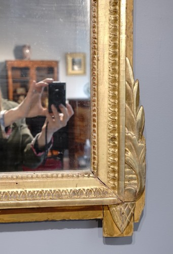 """Mirrors, Trumeau  - Louis XVI Mirror, Gilded Wood, With The Attributes Of """"love"""""""