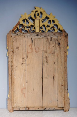 """Louis XVI Mirror, Gilded Wood, With The Attributes Of """"love"""" -"""