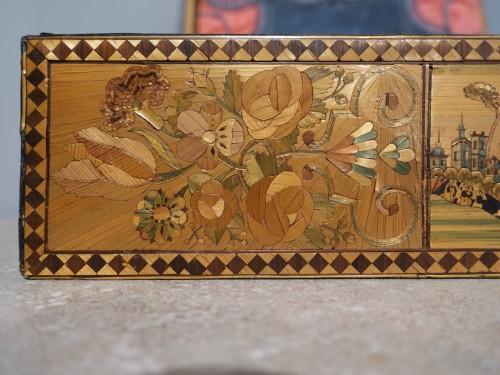 Restauration - Charles X - 19th century straw marquetry box