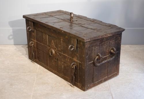 "Furniture  - Iron Chest Said ""of Corsair"" , Germany - Nürnberg"" , 17th Century"