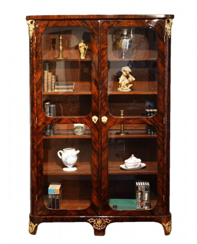 "Library / Showcase In Rosewood Veneer Stamped ""JB Hédouin"", 18th Century"