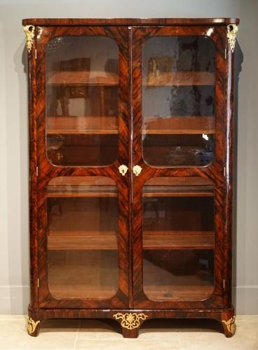 "Furniture  - Library / Showcase In Rosewood Veneer Stamped ""JB Hédouin"", 18th Century"