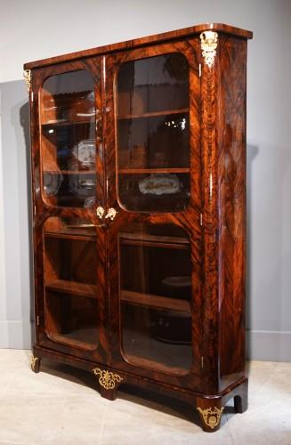 "Library / Showcase In Rosewood Veneer Stamped ""JB Hédouin"", 18th Century -"