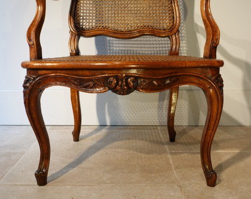 Set Of Two Louis XV Armchairs And Four Chairs -