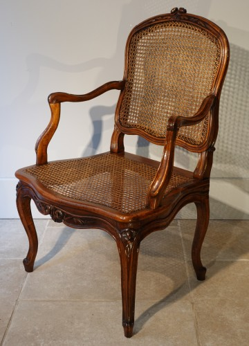 18th century - Set Of Two Louis XV Armchairs And Four Chairs