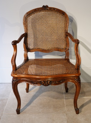 Set Of Two Louis XV Armchairs And Four Chairs - Louis XV