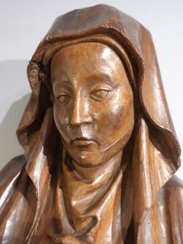 French Pieta In Carved, Walnut, Late 15th Century -