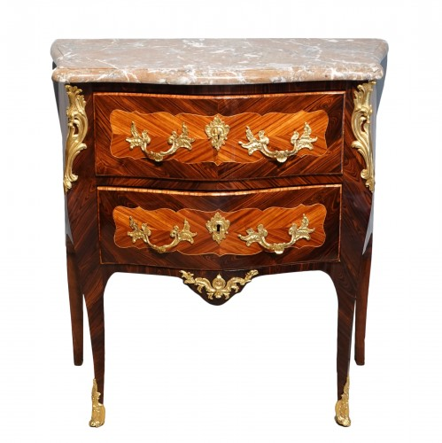 """French Louis XV Commode, Inlaid, Stamped """"s.vie"""""""