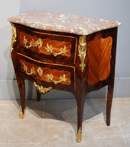 """Furniture  - French Louis XV Commode, Inlaid, Stamped """"s.vie"""""""