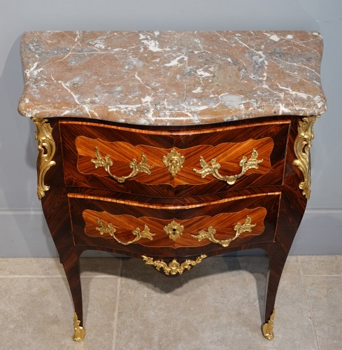"""French Louis XV Commode, Inlaid, Stamped """"s.vie"""" -"""