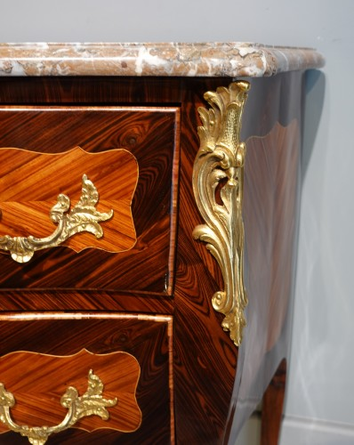 """18th century - French Louis XV Commode, Inlaid, Stamped """"s.vie"""""""