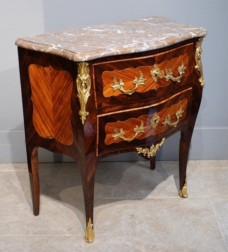 """French Louis XV Commode, Inlaid, Stamped """"s.vie"""" - Louis XV"""