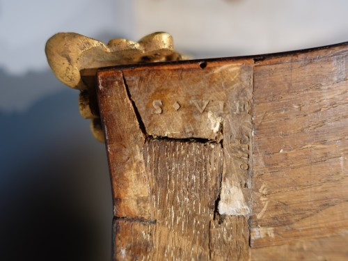 """Antiquités - French Louis XV Commode, Inlaid, Stamped """"s.vie"""""""
