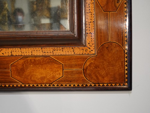 Mirrors, Trumeau  - French Mirror In Marquetry, Languedoc, 17th Century