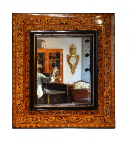 Inlaid Mirror Attributed To Thomas Hache, 17th Century