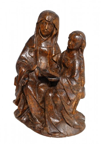 Saint Anne educator in carved lime tree circa 1510
