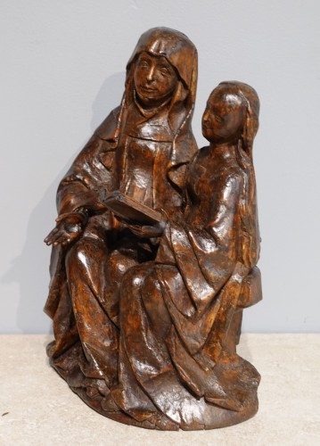 Saint Anne educator in carved lime tree circa 1510 - Sculpture Style Renaissance