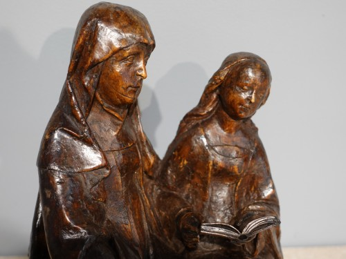 Sculpture  - Saint Anne educator in carved lime tree circa 1510