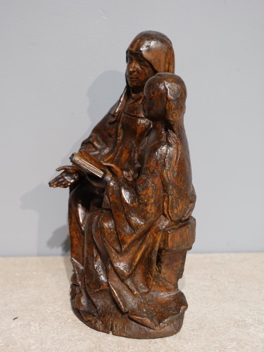Saint Anne educator in carved lime tree circa 1510 - Renaissance