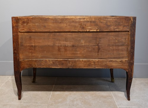 18th century - French Louis XV Chest Of Drawers, Stamped Hedouin, 18th Century