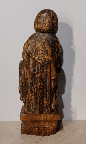 17th century - Saint Anthony hermit in carved and polychrome wood 17th century