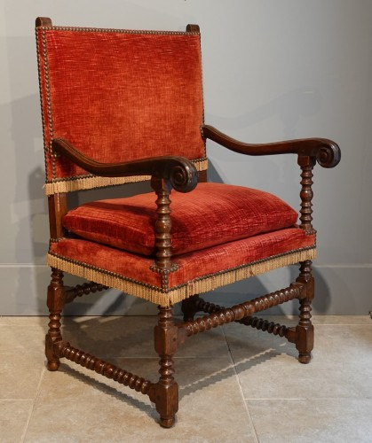 Pair of Louis XIII armchairs - 17th century - Seating Style Louis XIII