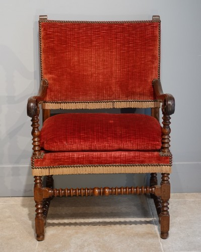 Seating  - Pair of Louis XIII armchairs - 17th century
