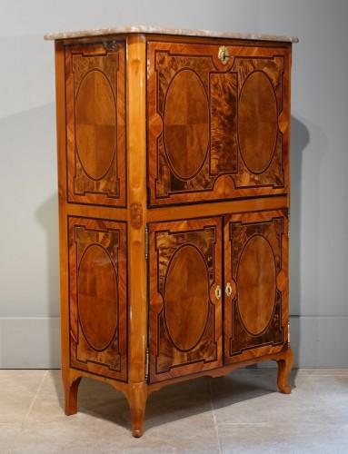 Rare small secretary by Jean-François Hache - Furniture Style Louis XV